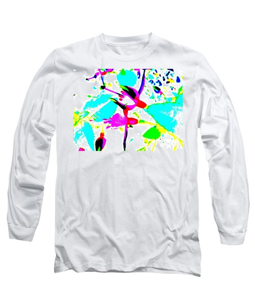 Long Sleeve T-Shirt featuring the digital art Fuchsia by Barbara Moignard