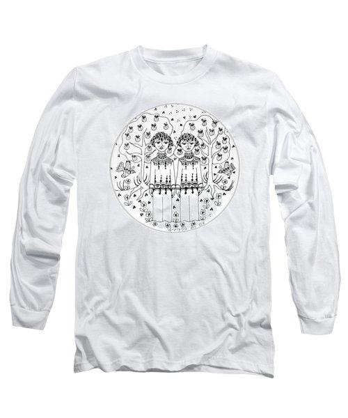 Gemini Long Sleeve T-Shirt by Rachel Hershkovitz