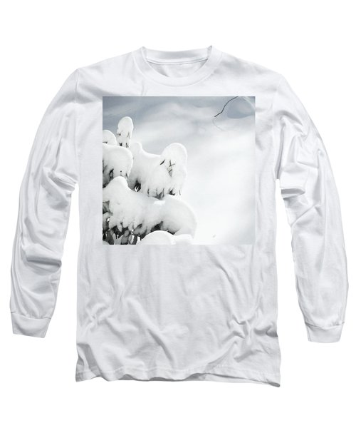 Long Sleeve T-Shirt featuring the photograph Ghostly Snow Covered Bush by Pamela Hyde Wilson