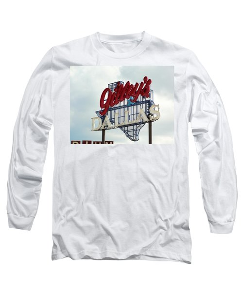 Long Sleeve T-Shirt featuring the photograph Gilleys Dallas by Charlie and Norma Brock