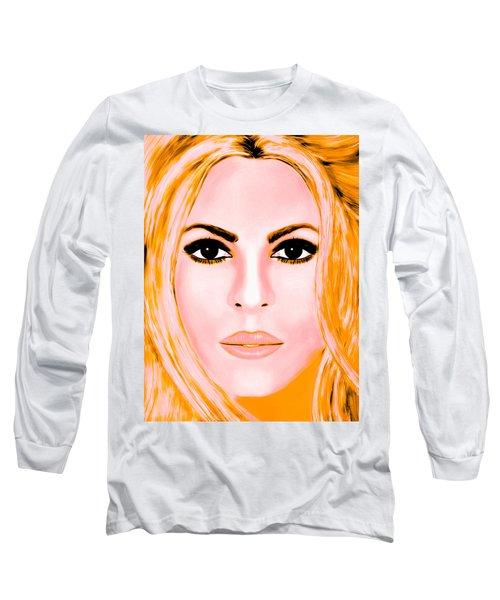 Gold Shakira Long Sleeve T-Shirt