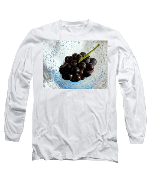 Long Sleeve T-Shirt featuring the photograph Grape Cluster In Biot Glass by Lainie Wrightson