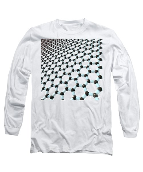 Long Sleeve T-Shirt featuring the digital art Graphene 8 by Russell Kightley