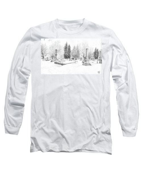 Graveyard In The Snow Long Sleeve T-Shirt