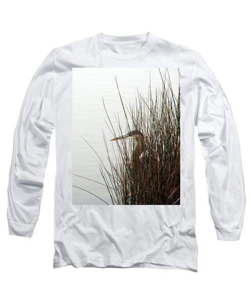 Great Blue Heron Long Sleeve T-Shirt by Kay Lovingood