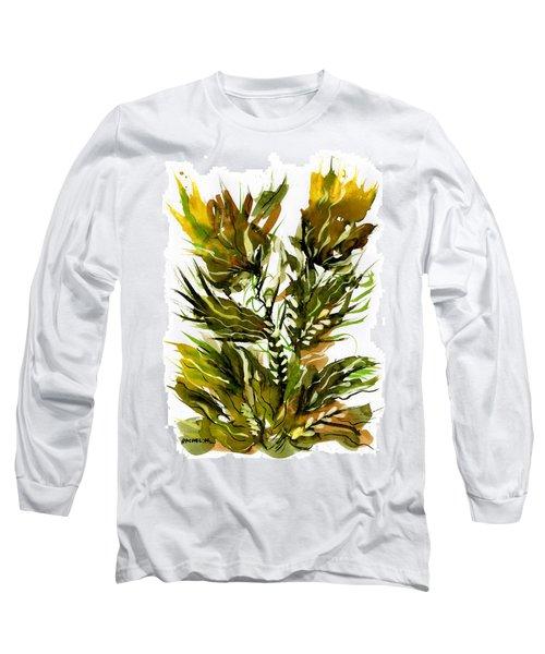 Green Flames Long Sleeve T-Shirt