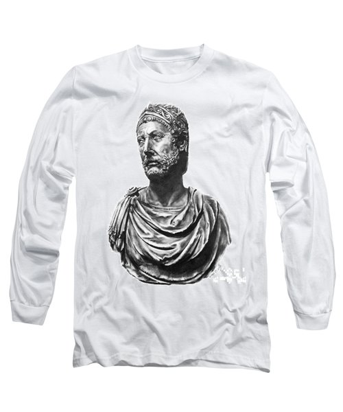 Long Sleeve T-Shirt featuring the drawing Hannibal by Marianne NANA Betts