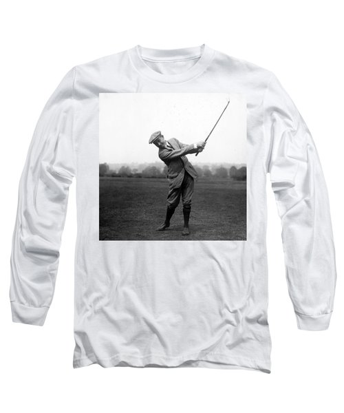 Long Sleeve T-Shirt featuring the photograph Harry Vardon Swinging His Golf Club by International  Images