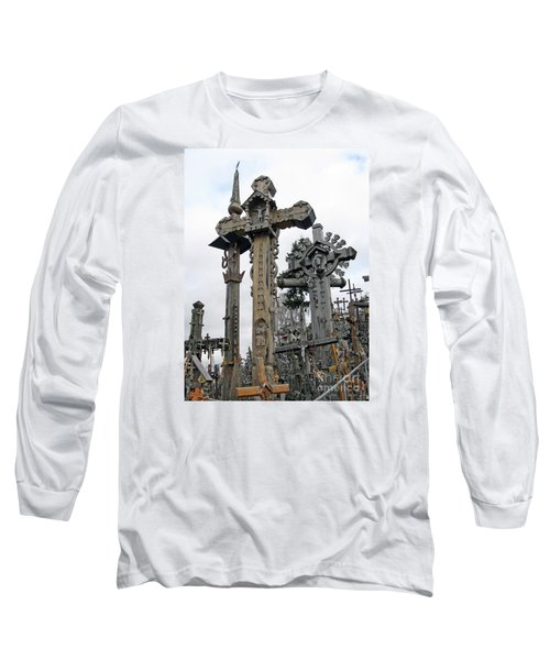 Hill Of Crosses 09. Lithuania Long Sleeve T-Shirt