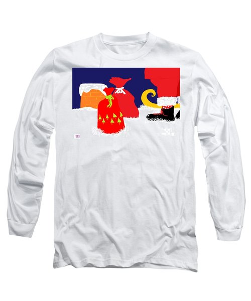 Long Sleeve T-Shirt featuring the digital art Ho Ho Ho by Barbara Moignard