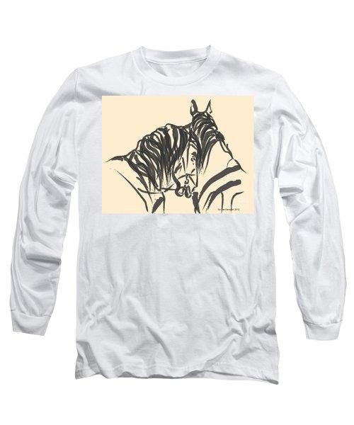 Horse - Together 9 Long Sleeve T-Shirt by Go Van Kampen