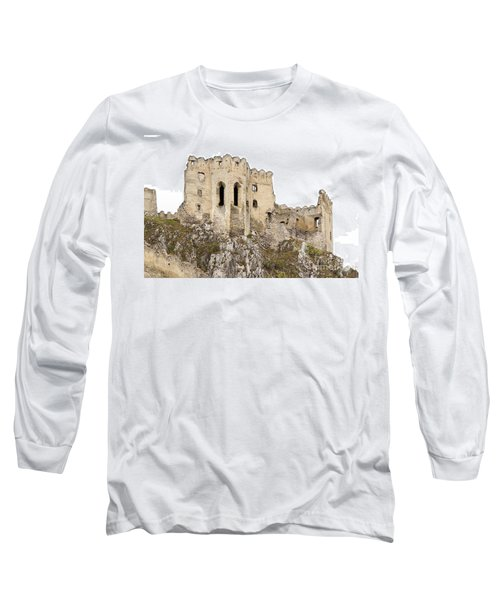 Long Sleeve T-Shirt featuring the photograph Hrad Beckov Castle by Les Palenik