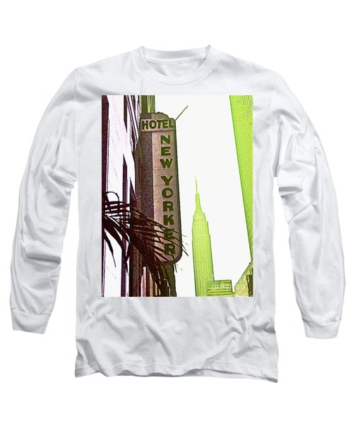 Long Sleeve T-Shirt featuring the photograph I Love New York by Beth Saffer