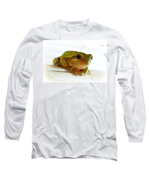 Long Sleeve T-Shirt featuring the photograph Im Watching You by Peggy Franz