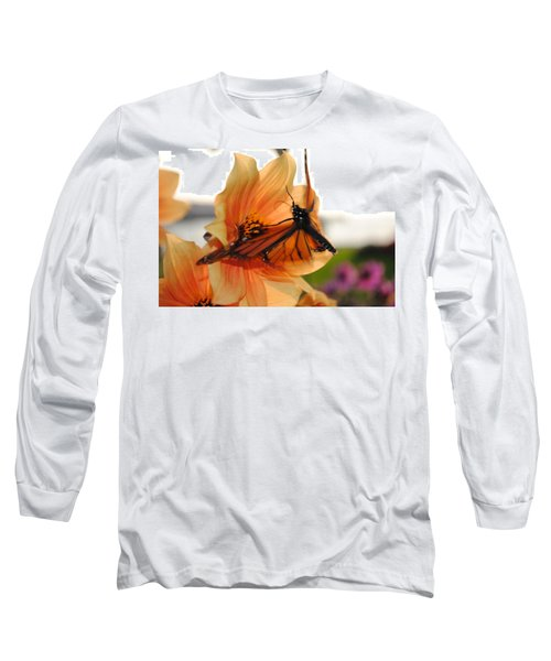 Long Sleeve T-Shirt featuring the photograph In Flight... by Michael Frank Jr
