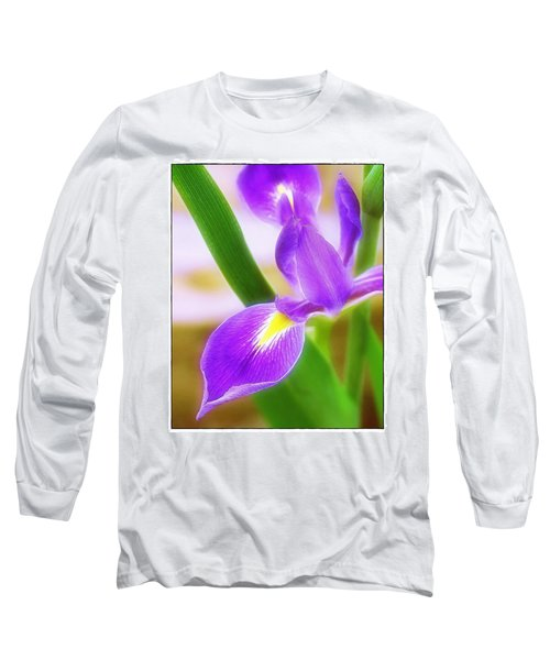 Iris On Pointe Long Sleeve T-Shirt by Judi Bagwell