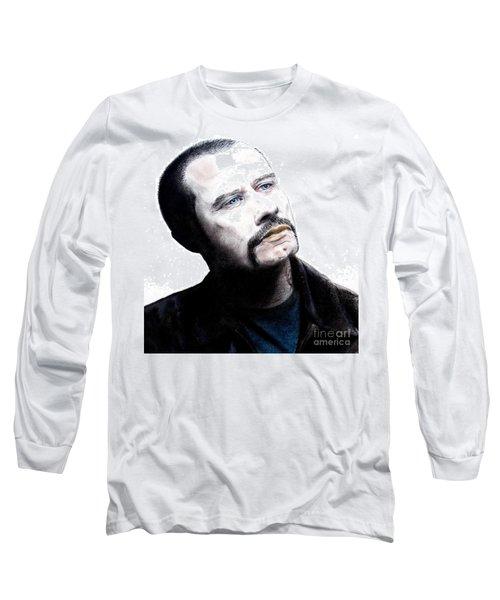 John Travolta In The Taking Of Pelham 123  Long Sleeve T-Shirt by Jim Fitzpatrick