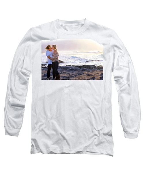 Kissed By The Ocean Long Sleeve T-Shirt by Dawn Eshelman