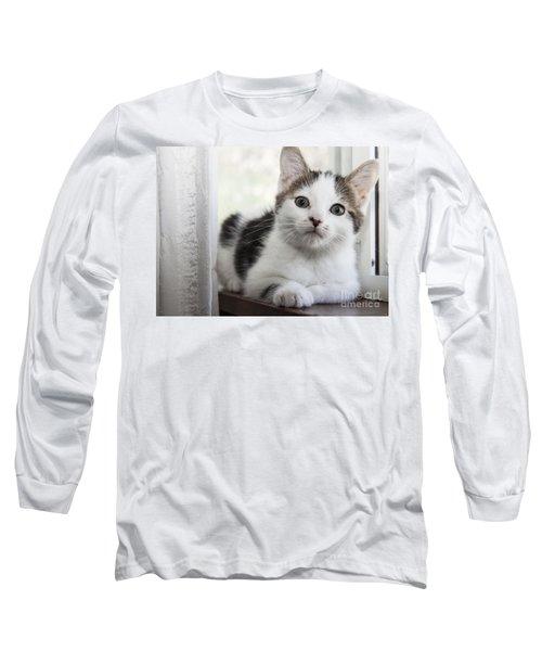 Kitten In The Window Long Sleeve T-Shirt