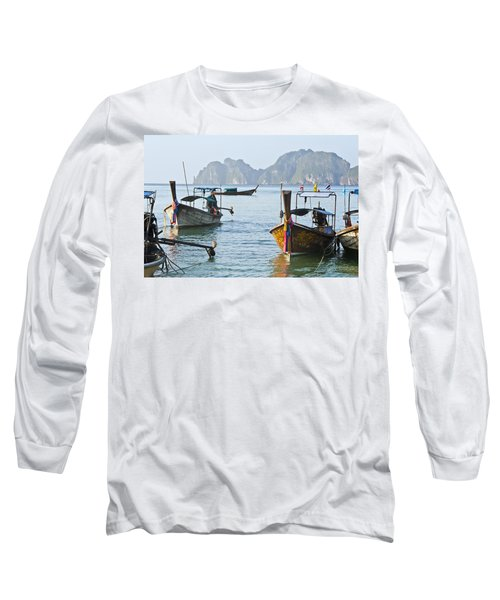 Koh Phi Phi Boats Long Sleeve T-Shirt
