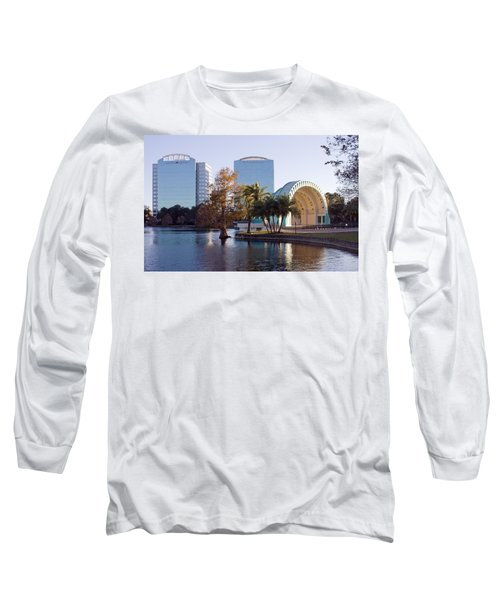 Lake Eola's  Classical Revival Amphitheater Long Sleeve T-Shirt by Lynn Palmer