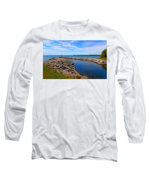 Long Sleeve T-Shirt featuring the photograph Lakeside Bend by Davandra Cribbie