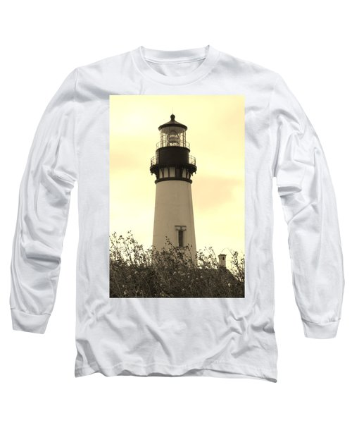 Lighthouse Tranquility Long Sleeve T-Shirt by Athena Mckinzie