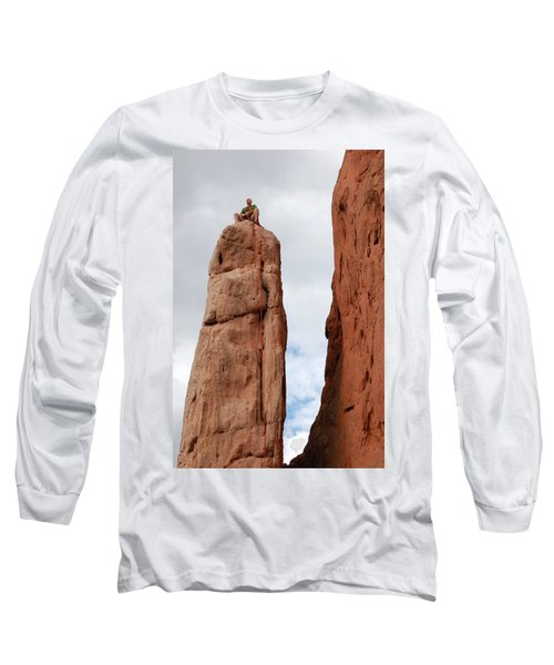 Lunch In The Mountains Long Sleeve T-Shirt by Randy J Heath