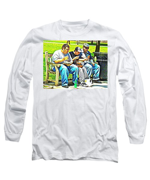 Long Sleeve T-Shirt featuring the photograph Lunchtime by Alice Gipson