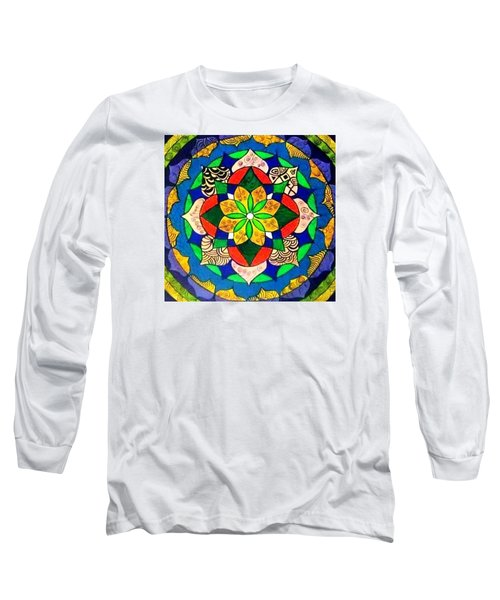 Mandala Circle Of Life Long Sleeve T-Shirt