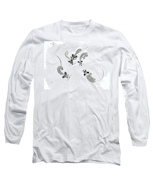Mice - Sumie Style Long Sleeve T-Shirt by Yoshiko Mishina