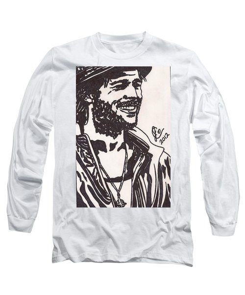 Long Sleeve T-Shirt featuring the drawing Mickey by Jeremiah Colley