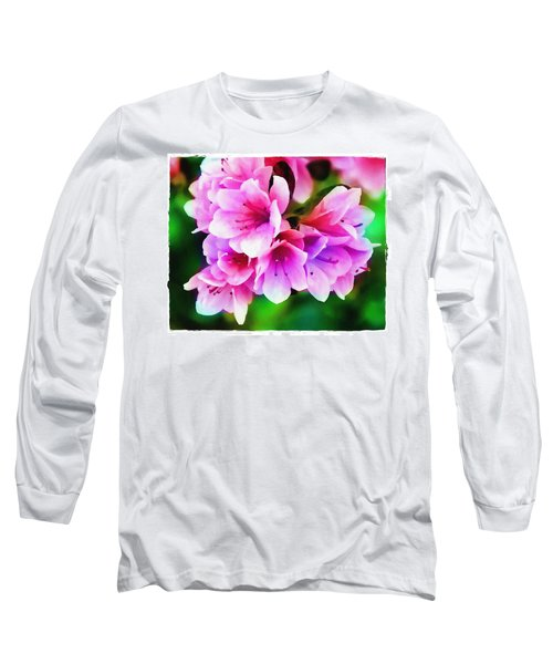 Miniature Azaleas Long Sleeve T-Shirt by Judi Bagwell