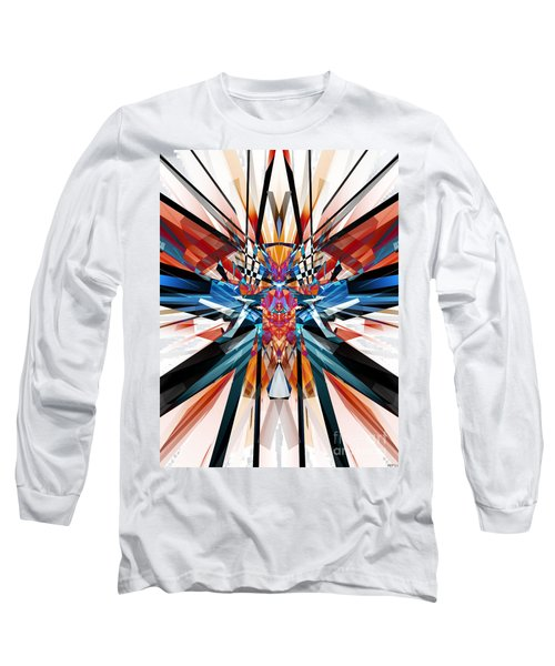 Long Sleeve T-Shirt featuring the digital art Mirror Image Abstract by Phil Perkins