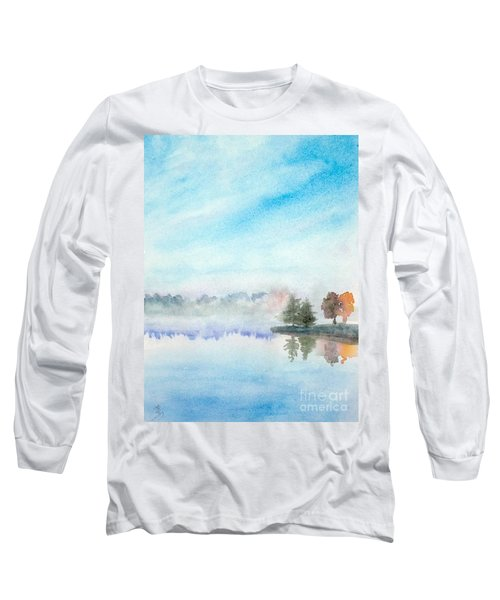 Misty Lake Long Sleeve T-Shirt by Yoshiko Mishina