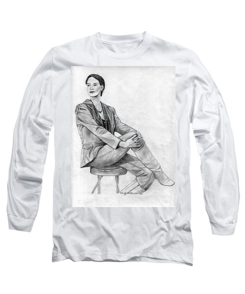 Model Long Sleeve T-Shirt by Wendy McKennon