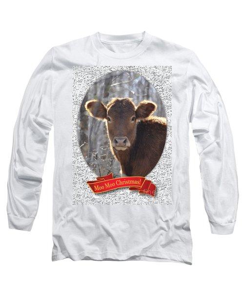 Moo Moo Christmas Long Sleeve T-Shirt