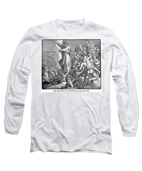 Moses And The Red Sea Long Sleeve T-Shirt