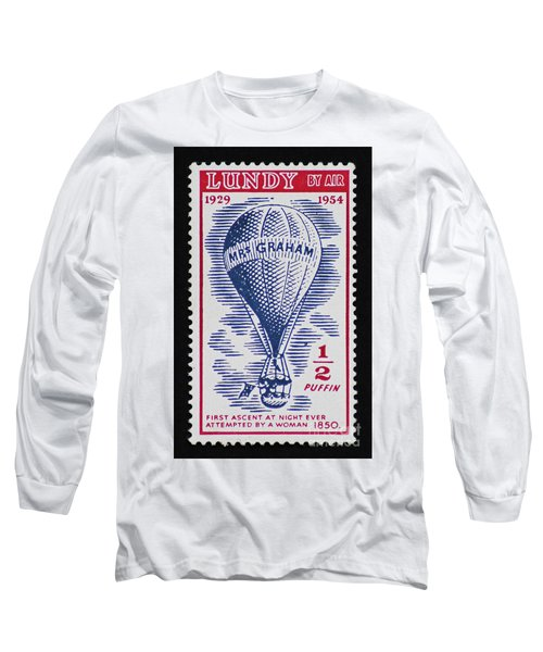 Long Sleeve T-Shirt featuring the photograph Mrs Graham The Balloonist by Andy Prendy