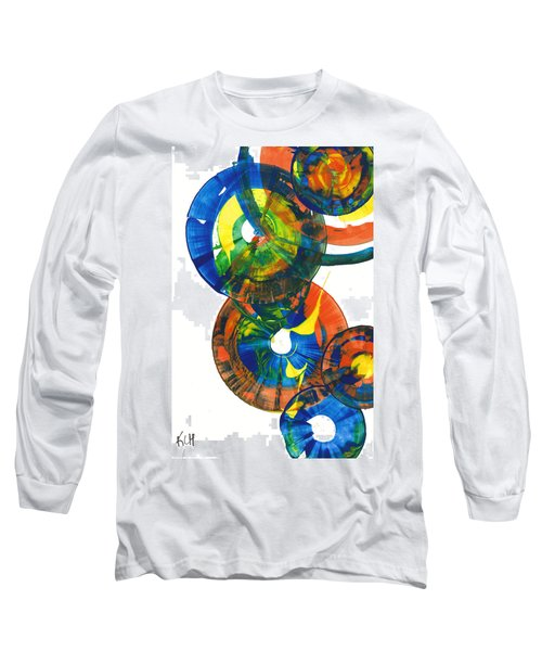 My Spherical Joy '' Jump Up ''  858.121711 Long Sleeve T-Shirt by Kris Haas