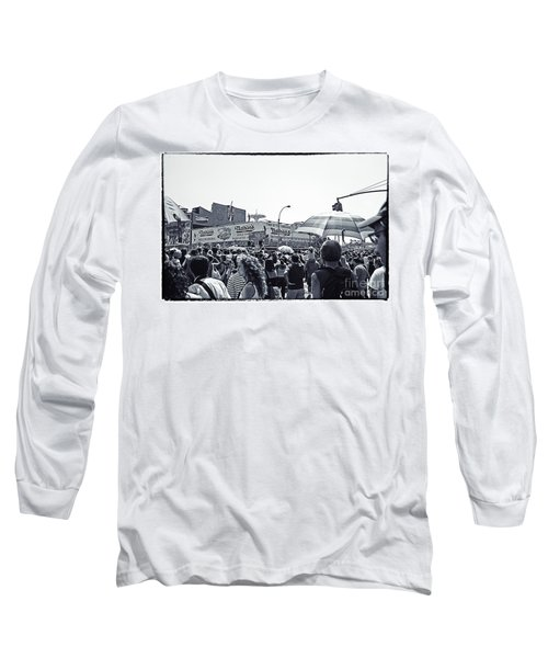 Nathan's Crowd In Coney Island 1 Long Sleeve T-Shirt