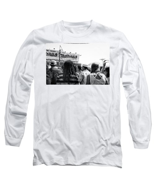 Nathan's Crowd In Coney Island 2 Long Sleeve T-Shirt