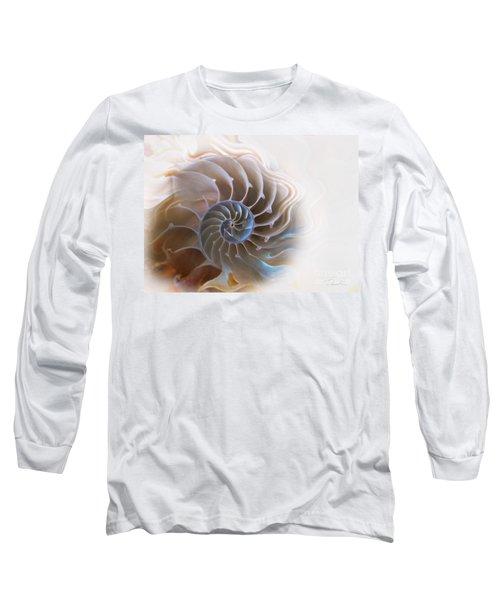 Natural Spiral Long Sleeve T-Shirt by Danuta Bennett