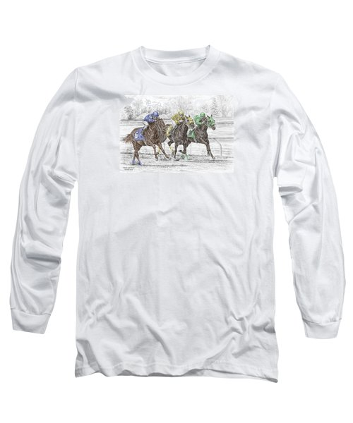 Neck And Neck - Horse Race Print Color Tinted Long Sleeve T-Shirt