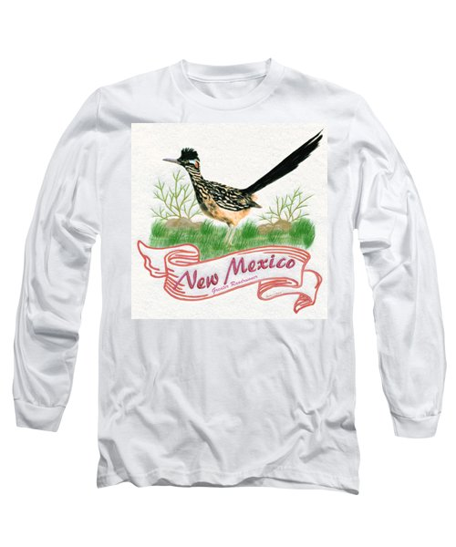 New Mexico State Bird The Greater Roadrunner Long Sleeve T-Shirt