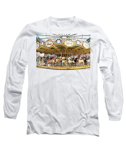 Long Sleeve T-Shirt featuring the photograph New York Carousel by Alice Gipson