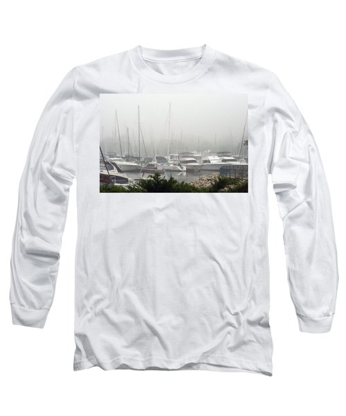Long Sleeve T-Shirt featuring the photograph No Sailing Today by Kay Novy