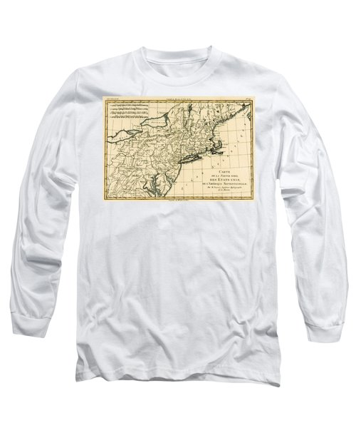 Northeast Coast Of America Long Sleeve T-Shirt