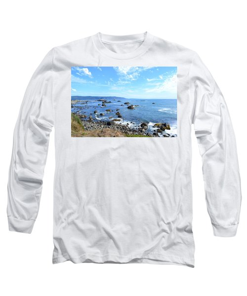 Long Sleeve T-Shirt featuring the photograph Northern California Coast3 by Zawhaus Photography
