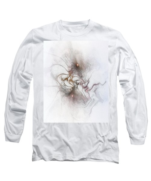 Long Sleeve T-Shirt featuring the digital art Nuanced by Casey Kotas